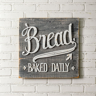 Bread Baked Daily Sign