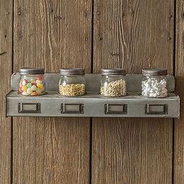 Four Pint Jars with Storage Bin