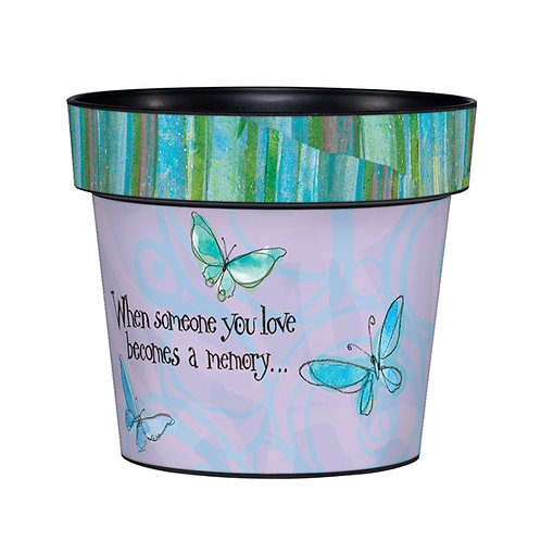 "Studio M - Butterfly Memories 6"" Art Pot"