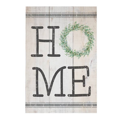 Home Wreath Wall Sign