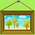 clipart of framed picture - Bliss This Home