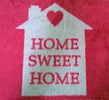 Home Sweet Home rug from Solitaire Trading Company
