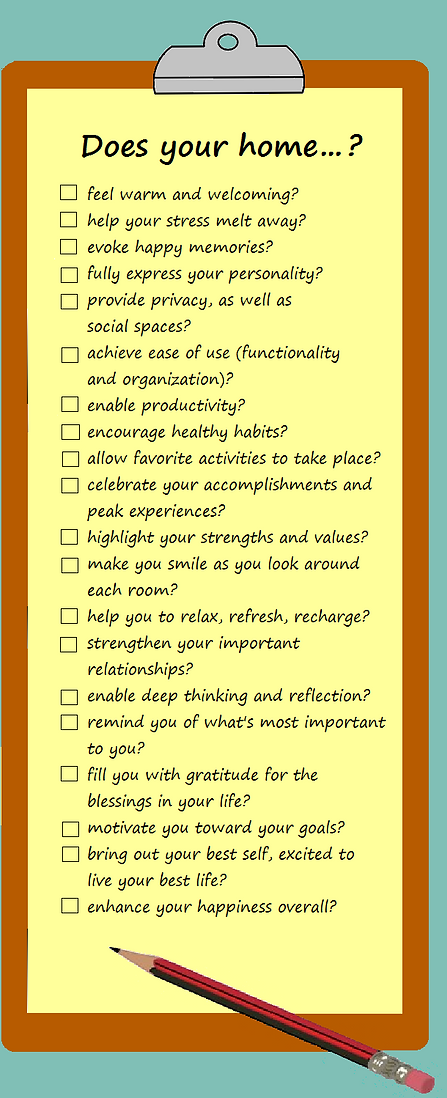 Bliss This Home positive design - checklist for maximum happiness and well-being at home