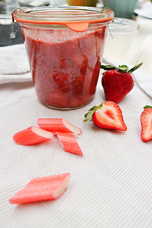 Strawberry Rhubarb Chia Seed Jam
