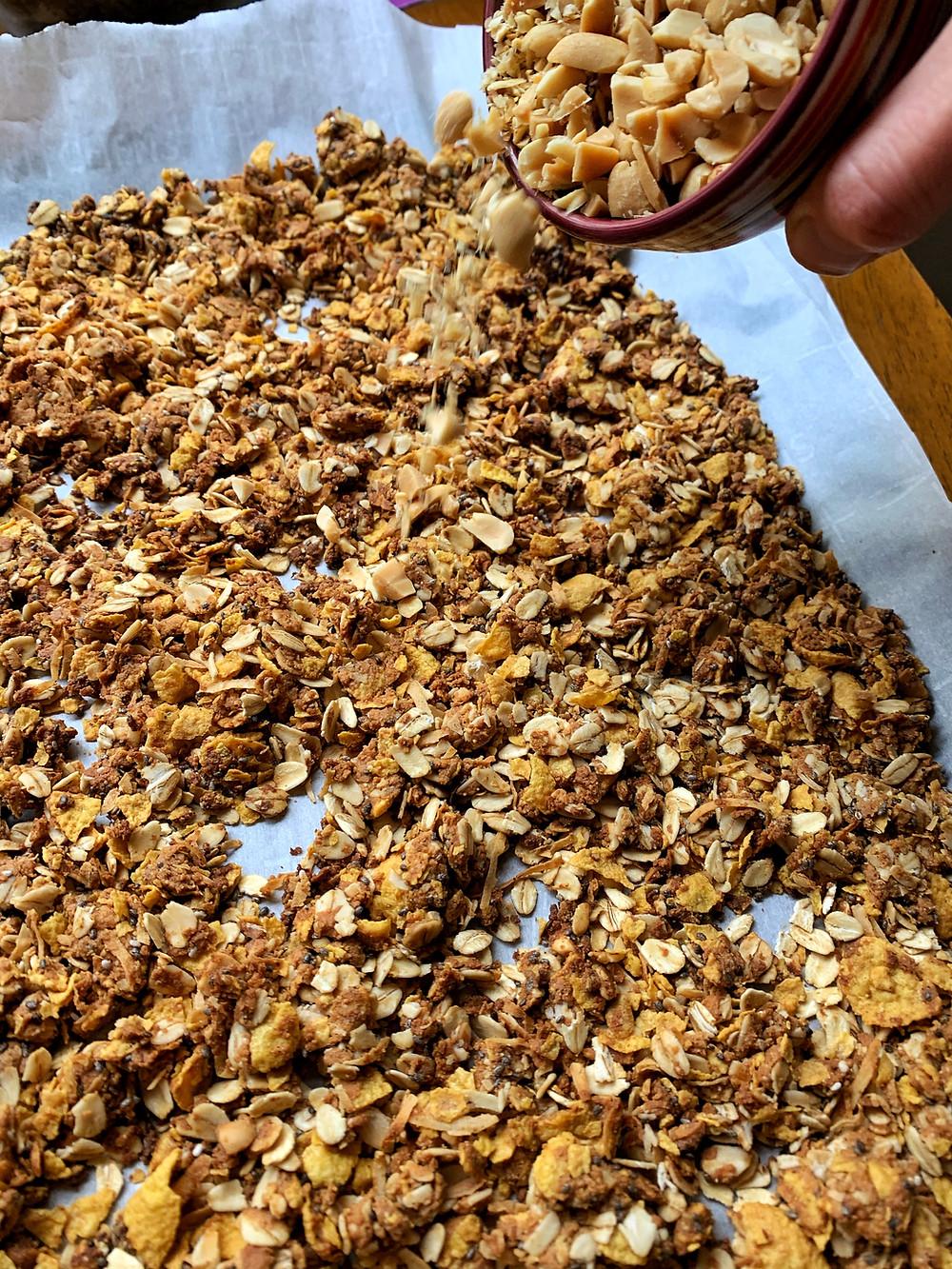 Peanut Butter, Coconut Cornflake Crunch Granola