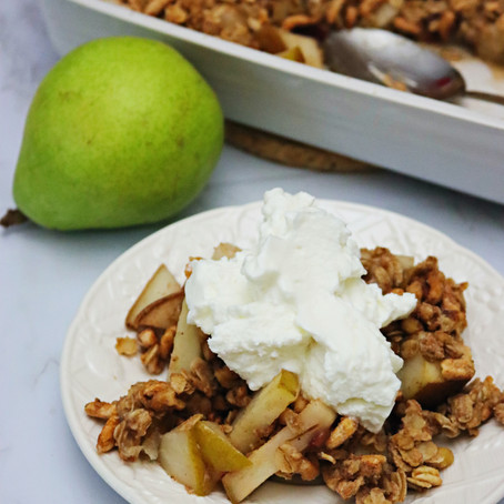 Pear Walnut Crisp (Vegan, GF-Friendly)
