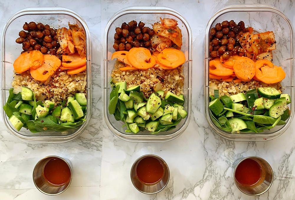 Korean Chickpea Rice Bowls (Vegan, GF)