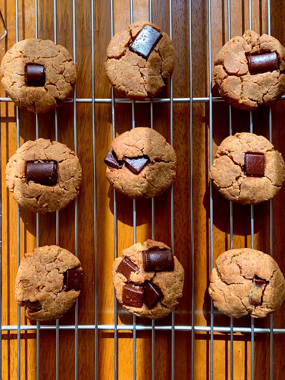 Chocolate Chunk Chickpea Cookies