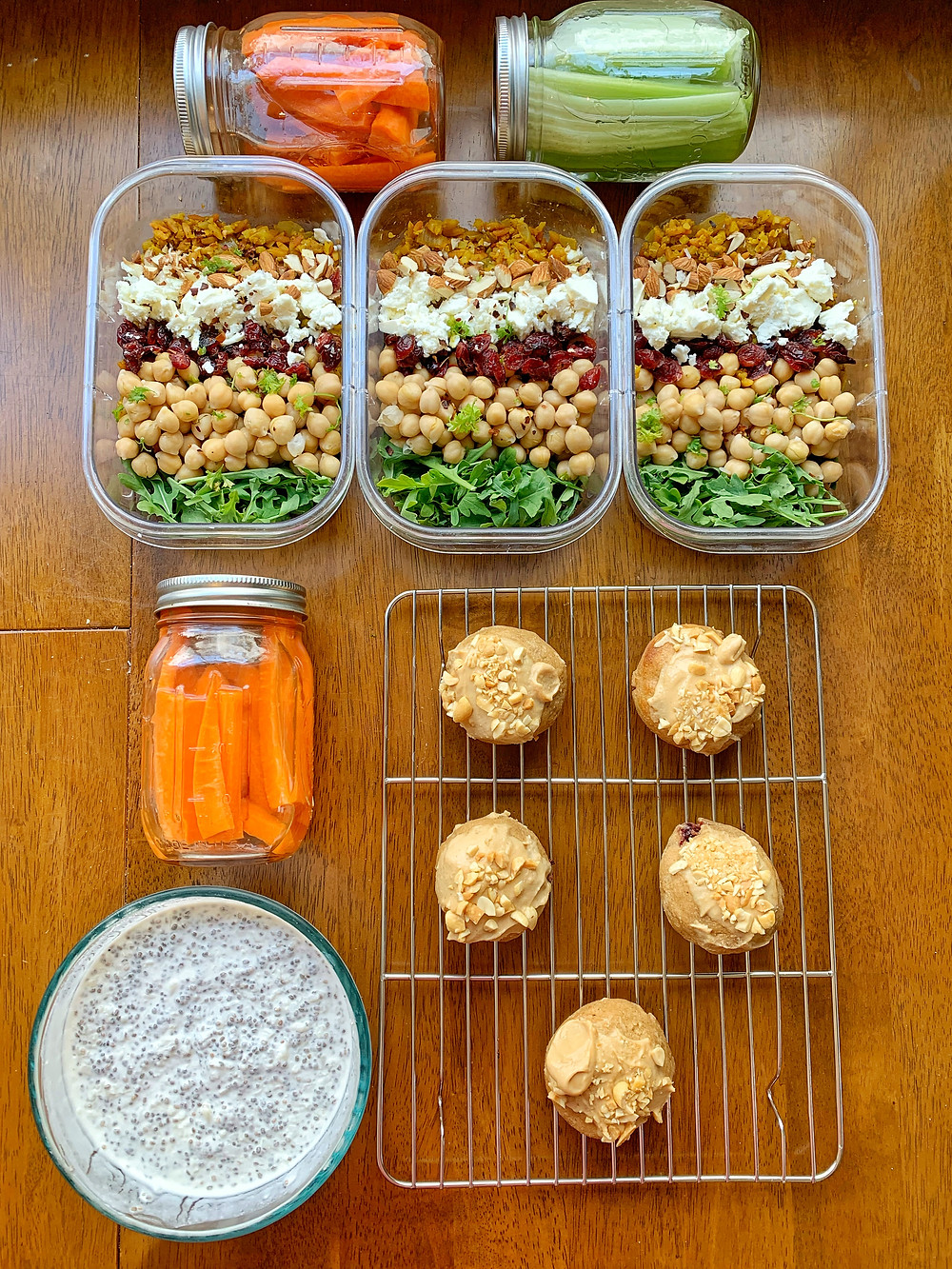 Chickpea and Tumeric Rice Salads
