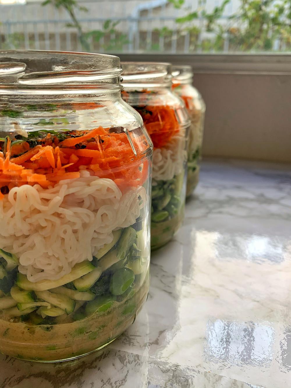 Sesame Noodle Jars