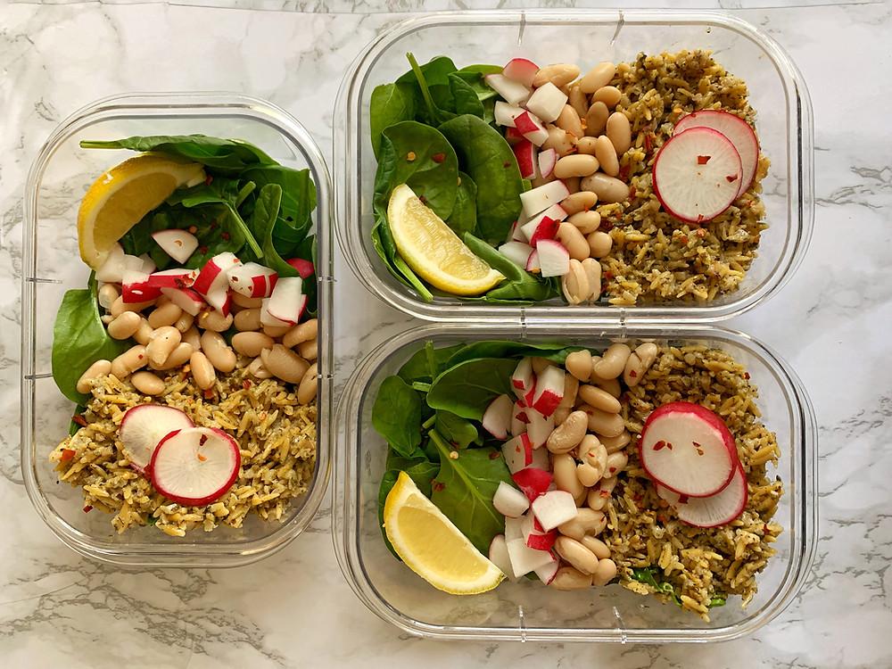 Pesto Rice Meal Prep