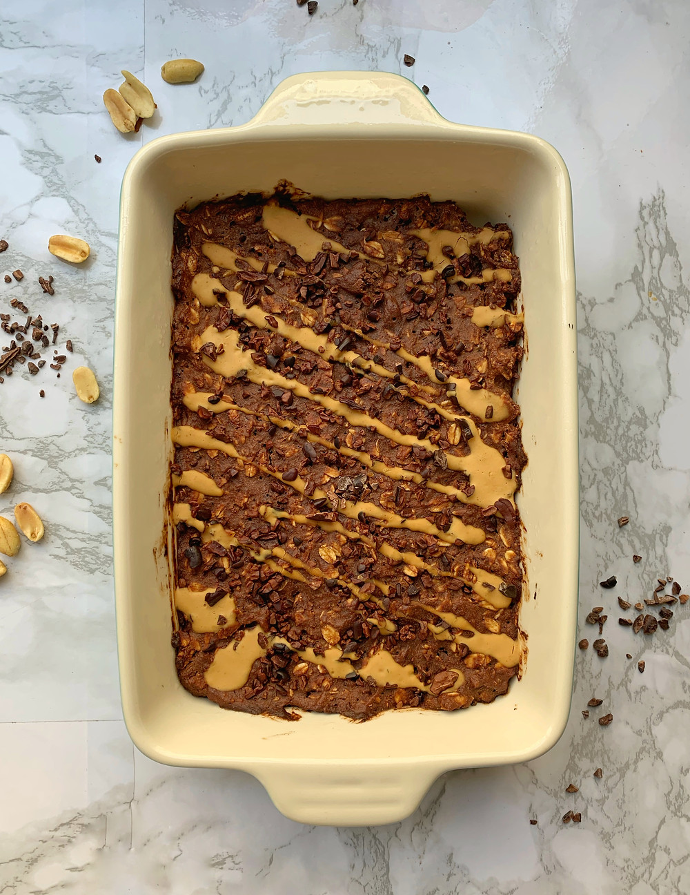 Chocolate Peanut Butter Baked Oatmeal?