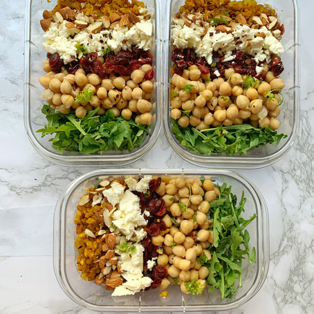 Chickpea and Turmeric Rice Salads