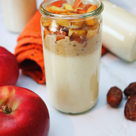 Caramel Apple Protein Puddings (Vegan-Friendly, GF)