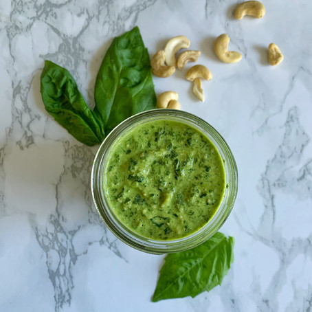 Spinach Cashew Pesto (Vegan)
