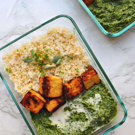 Vegan Palak Paneer (GF, High-Protein)