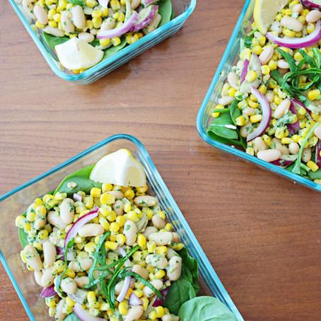 Corn Salad With Pesto Aioli (Vegan, GF)