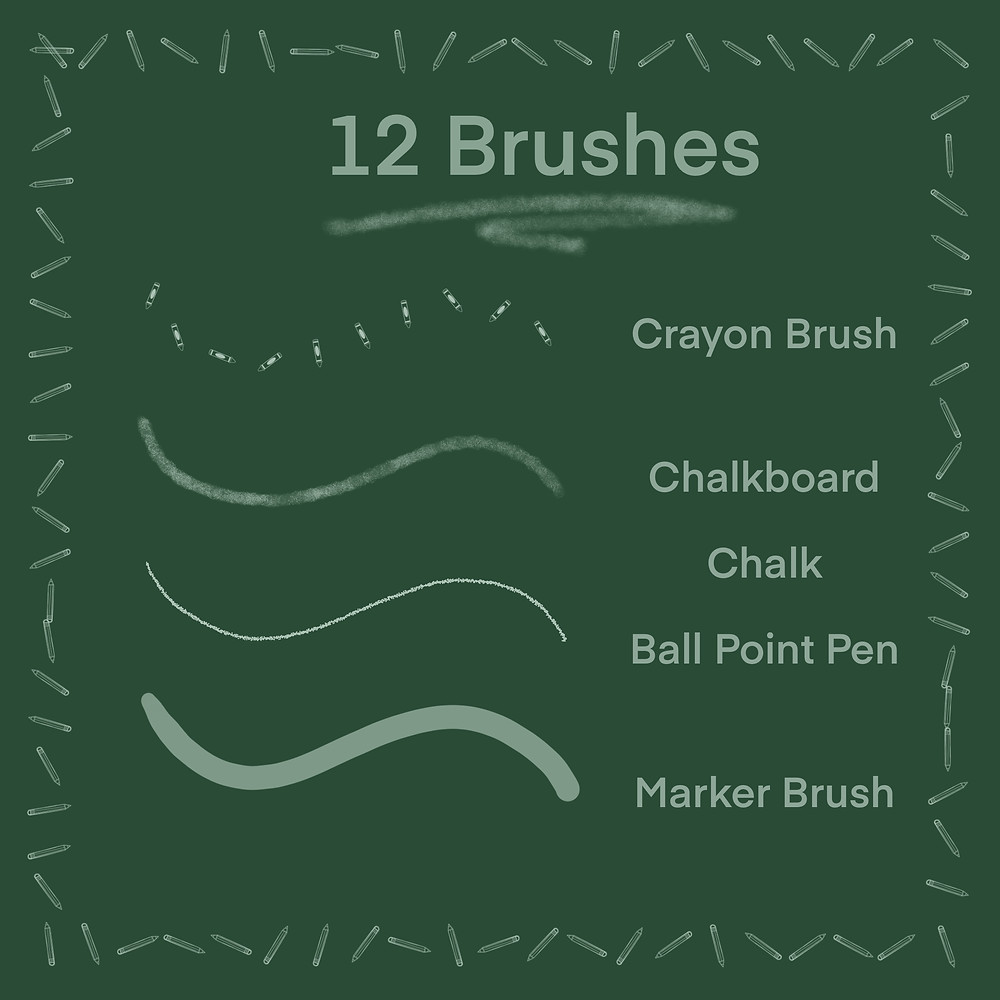 Back to School Brush Pack