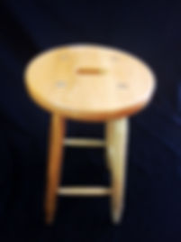 Backless Bistro Barstool with Solid Seat