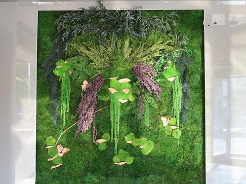Orta Yoğunluklu Mumyalanmış Bitki Yosun Duvar
