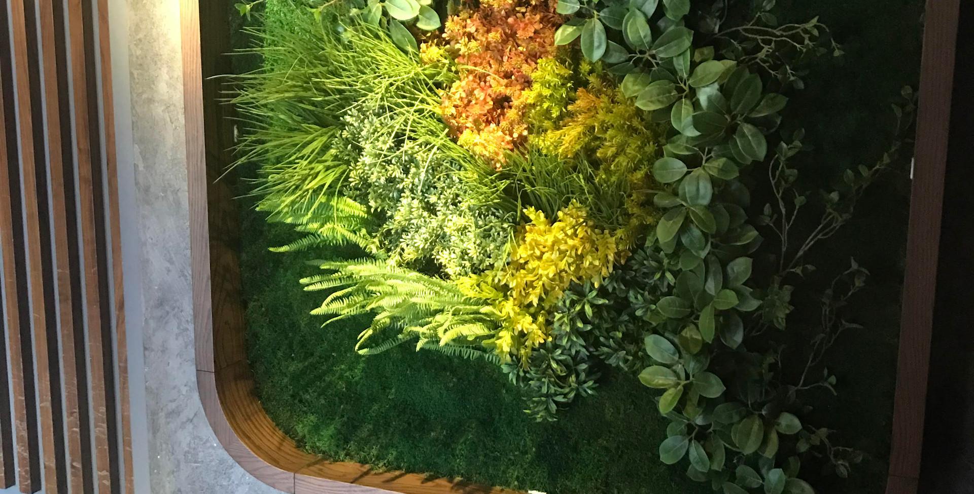 lulu Yapay Bitki Yosun Duvar