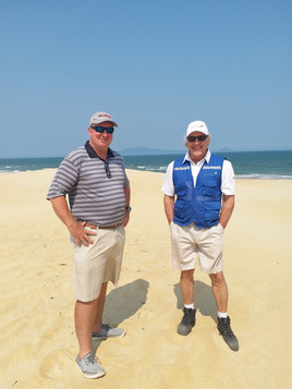 HASD Shot 2018, Courtesy of Dan Brown (Brad Burgess (STS) and Darry Koster (Linksshape Project Manager) inspecting Hole 16)