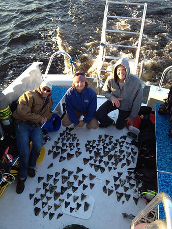 Scuba Diving for Fossil Megalodon Shark Teeth off North Carolina