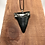 """Thumbnail: 2.31"""" Silver Plated Fossil Mako Shark Tooth Necklace"""
