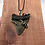 """Thumbnail: 2.30"""" Silver Forked Wrap Fossil Megalodon Shark Tooth Jewelry"""