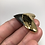 "Thumbnail: 1.69"" 18K Gold Plated Diamond Polish Fossil Megalodon Shark Tooth"