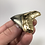 """Thumbnail: 2.59"""" 18K Gold Plated Diamond Polished Fossil Megalodon Shark Tooth"""