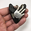 "Thumbnail: 2.53"" Silver Forked Wrap Diamond Polish Megalodon Shark Tooth Jewelry"