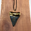 """Thumbnail: 2.13"""" 18K Gold Plated Fossil Great White Shark Toth"""