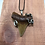 """Thumbnail: 2.31"""" Silver Forked Wrap Fossil Chubutensis Shark Tooth Jewelry"""
