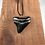 """Thumbnail: 2.03"""" Silver Plated Fossil Megalodon Shark Tooth Necklace"""
