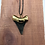 """Thumbnail: 2.01"""" 18K Gold Plated Fossil Megalodon Shark Tooth"""