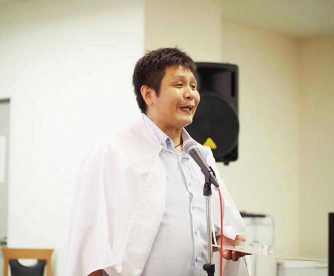 第2回笑顔流大賞受賞者 コツコツ大賞 千葉英俊さん(宮城県松島町)