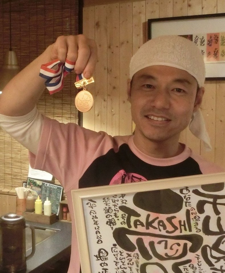 銅メダル達成 第32号 市山隆志さん(山口県下関市)   平成26年12月20日達成