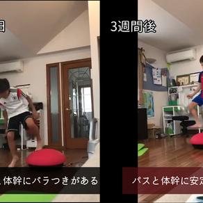 インサイドキック&体幹トレーニング