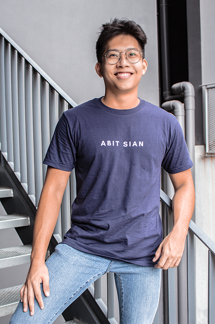 PERSONALIZE T-SHIRT - NAVY (ONE LINE)