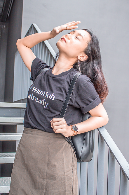 PERSONALIZE T-SHIRT - BLACK (ONE LINE)