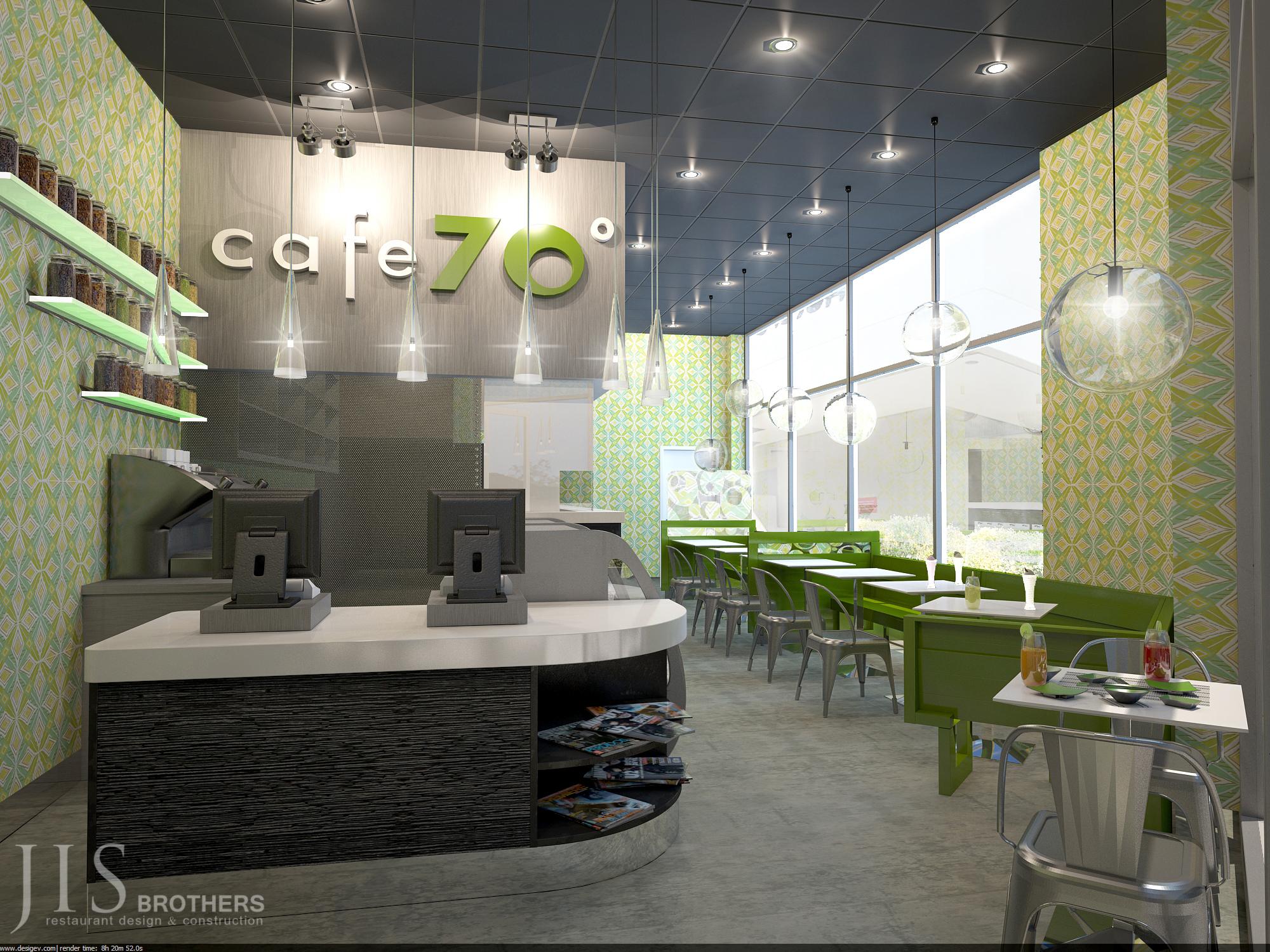 Cafe 70° - 3D design