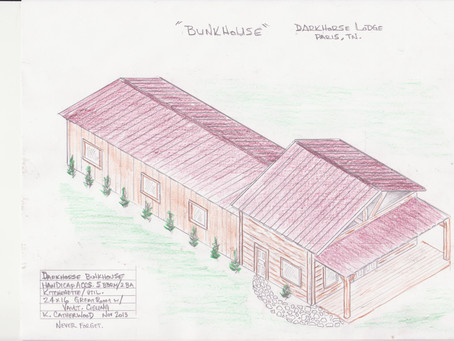 Drawing of exterior of cabins