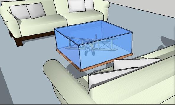 vitrine/coffee table design