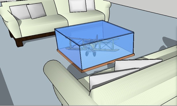 vitrine/coffee table design