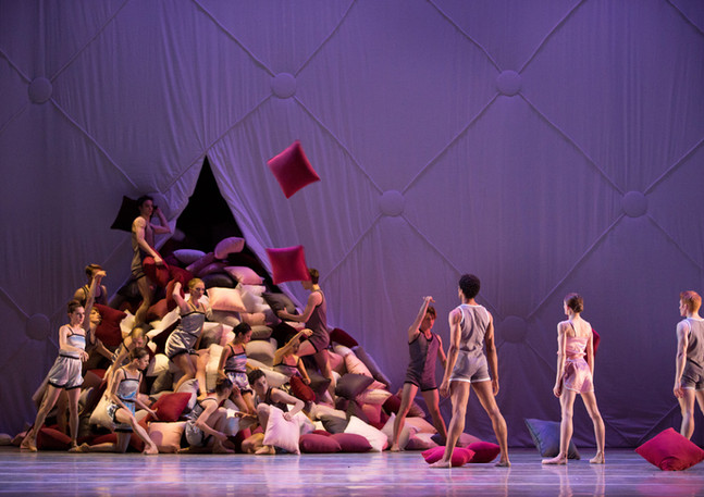 Pennsylvania Ballet, Somnolence, The Academy of Music, Philadelphia, PA. Costume and Set Design by Steven Earl Weber Costume Built by Martha Chamberlain