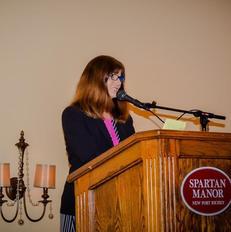 Paula speaking at the Volunteer Way Brea