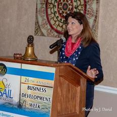 Paula speaking at Business Development W
