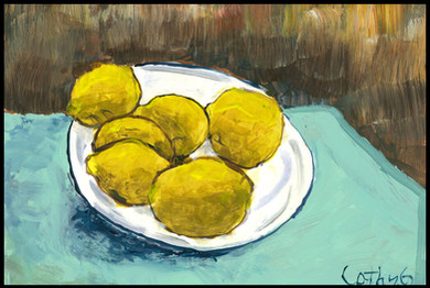 Yellow Lemons (after Van Gogh)