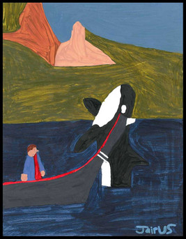Whale Watching (after Ted Harrison)